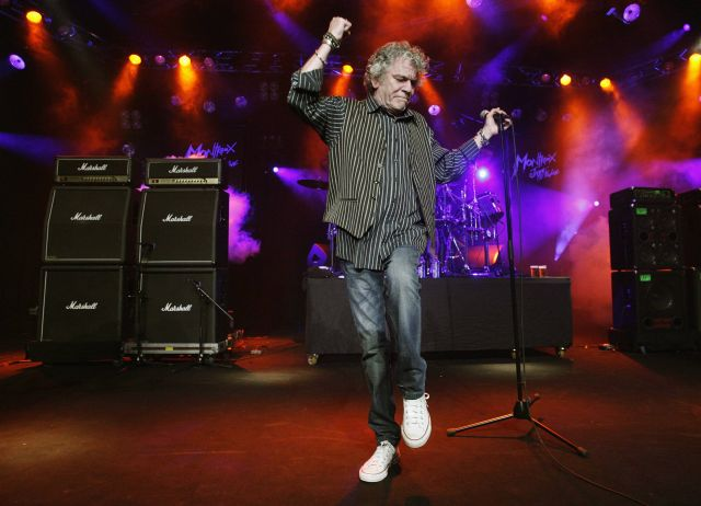 Nazareth singer McCafferty performs during the 42nd Montreux Jazz Festival