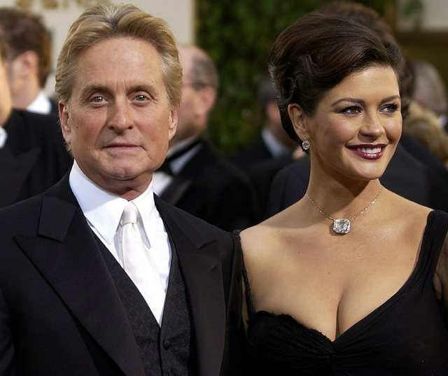 (FILES) Actors Michael Douglas (L) and h